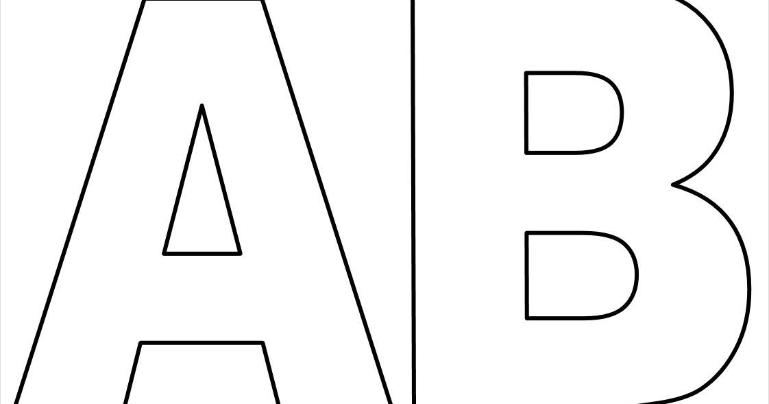 Moldes De Letras Do Alfabeto Em Tamanho Grande Para Imprimir Letras