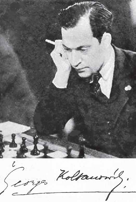 George Koltanowski y su firma, Torneo Internacional de Madrid 1936
