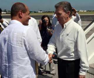 Juan Miguel Santos arriba a Cuba para firma de acuerdos de paz  en Colombia