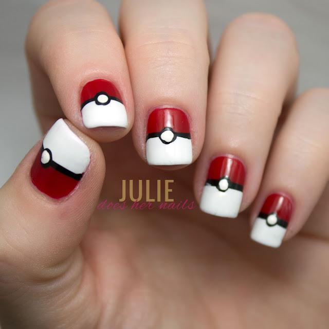 PokeBall Nail Art