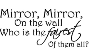 mirror mirror Donald Trump, King with Many Mirrors, Minnions and Gold