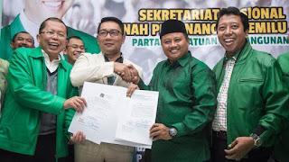 Uu Tidak Jadi Wakilnya ,PPP Tarik Dukungan Untuk Ridwan Kamil