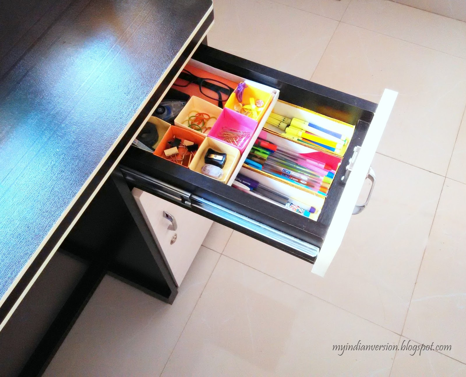 Attrayant Diy Desk Drawer Organizer Myindianversion
