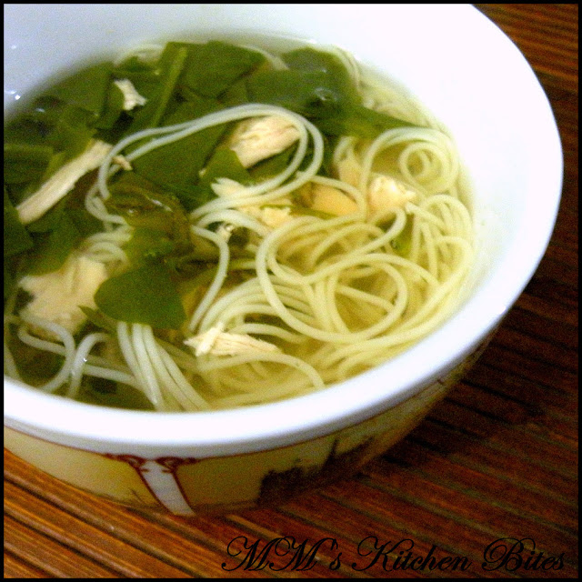 Clear Spinach Chicken Noodle Soup mmskitchenbites