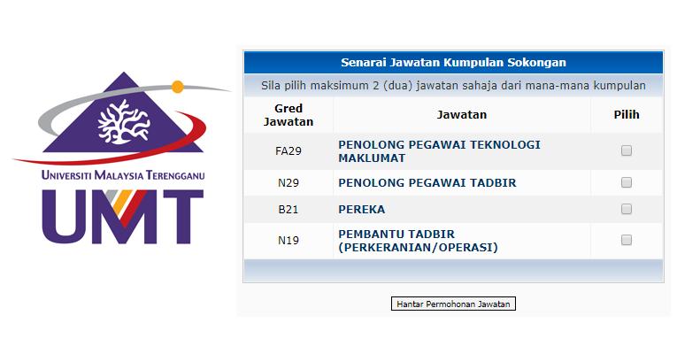 Jawatan Kosong di Universiti Malaysia Terengganu UMT
