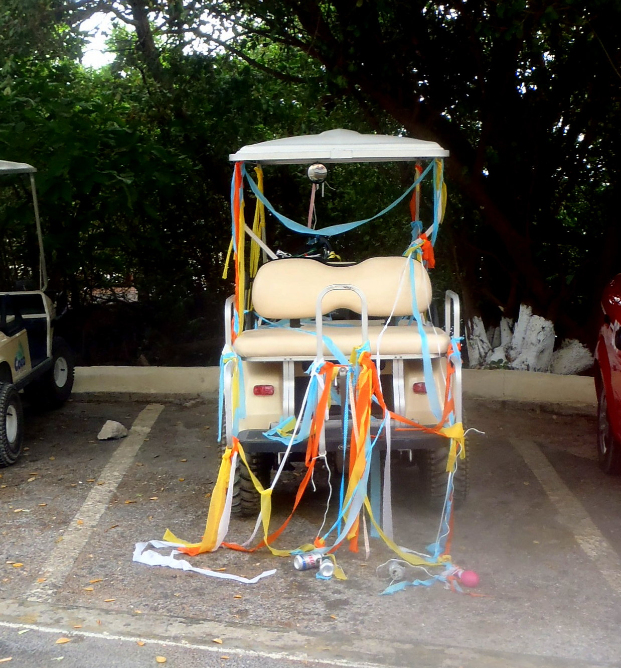 Notes From Isla Mexico: Love is in the air! on ford think electric golf cart, burning man golf cart, pink golf cart,