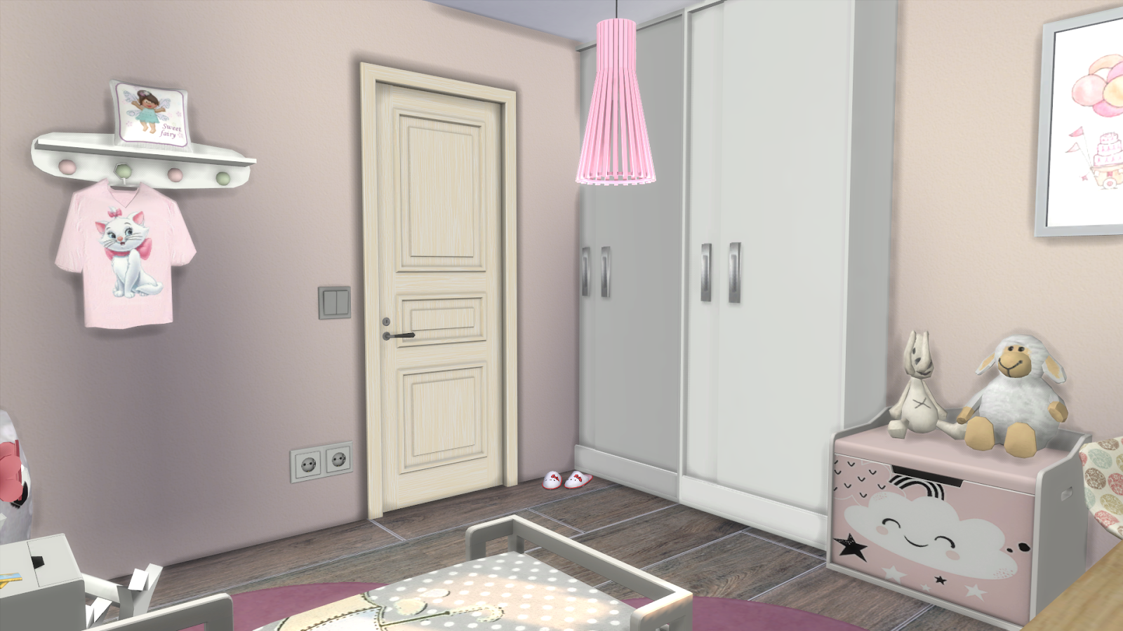 Sims 4 toddler bedroom girl download cc links dinha for 4 bedroom