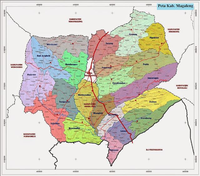 Peta Kabupaten Magelang