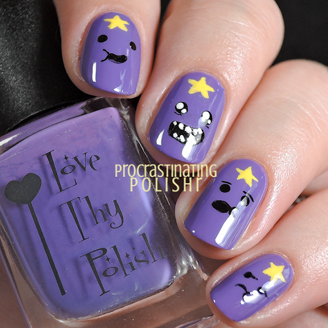 Adventure Time Lumpy Space Princess Nail Art
