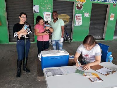 Campanha de vacinação antirrábica continua na zona rural em Sete Barras