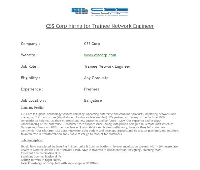 CSS CORP Hirings