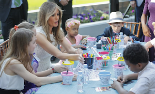 The First Lady Blossoms! Melania Dedicates New Healing Garden At The Children's National Medical Center With A Touching Play-Date Filled With Hugs At The Hospital