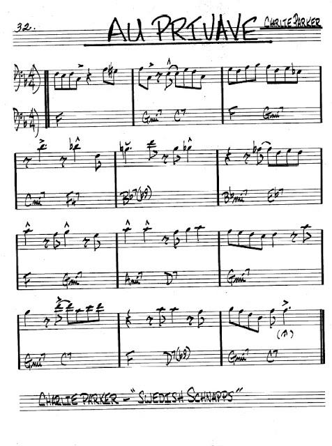 Partitura Trombón Charlie Parker