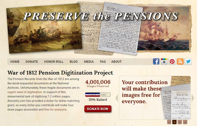 Preserve the Pensions (War of 1812) Fundraising is COMPLETED! Let's Celebrate