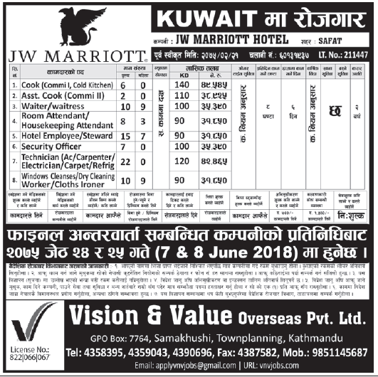 Jobs in Kuwait for Nepali, Salary Rs 49,545