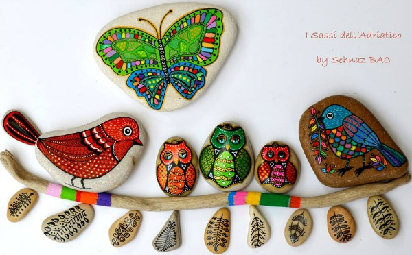beautifuly stones painting by Sehnaz Bac