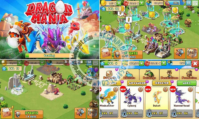 Download Game Dragon Mania Apk V4.0.0 For Android Mod Unlimited Money/Gems/Coins Terbaru