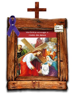 Caminho da Cruz - Verônica limpa o rosto de Jesus