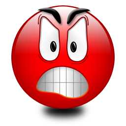 Red Angry Smiley eyes