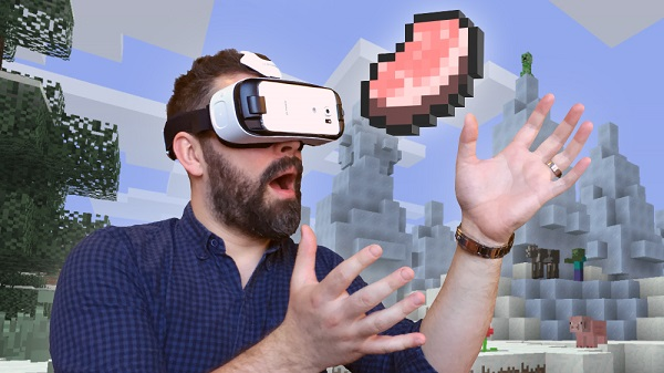 Minecraft arrives on Samsung's Gear VR