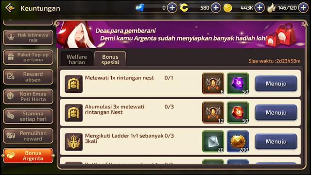 3 Hari Tidak LogIn Dragon Nest M-SEA Dapat Bonus Argenta