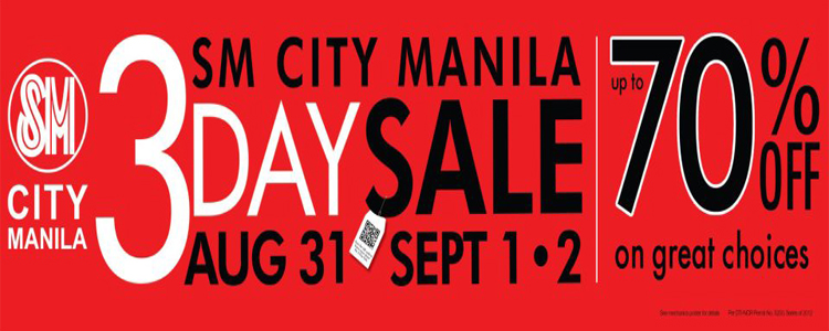 SM City Manila 3-Day Sale