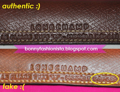 Bonny Fashionista  Spot The Difference  The Fake and Authentic Longchamp Le  Pliage d067fcbe1425e
