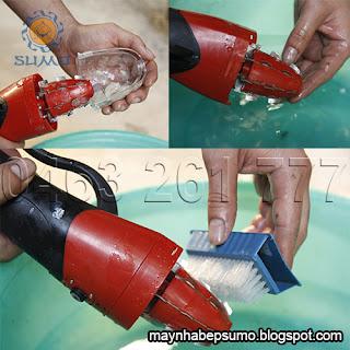 vệ sinh máy đánh vảy cá