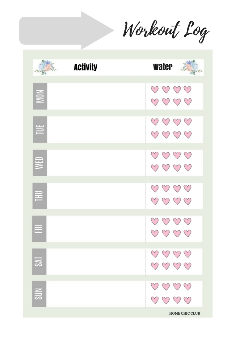 photo relating to Fitness Planner Printable identify August 2018 Calendar and Free of charge Month-to-month Planner Printable