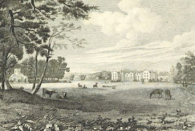 Parham Park, Sussex from Excursions in the County of Sussex (1822)