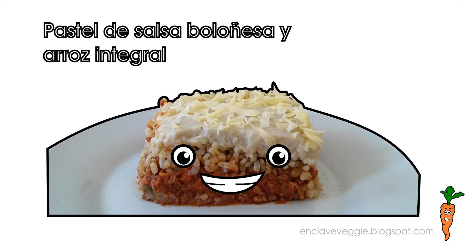 http://enclaveveggie.blogspot.com/2015/04/pastel-de-salsa-bolonesa-y-arroz.html