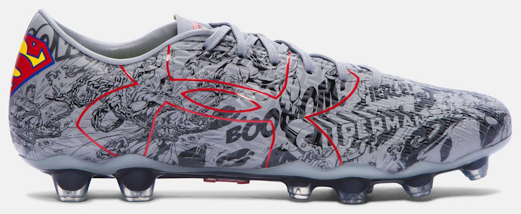 This image shows the special-edition Under Armour ClutchFit Force 2.0  Superman football boots. a83eacfdbf