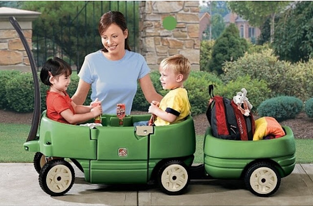 Image: Step2 Step 2 Wagon for Two Plus Willow Green
