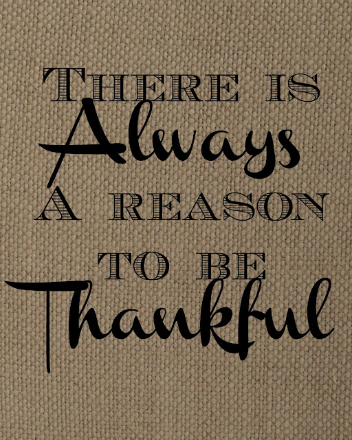 Always Thankful Printable on Burlap