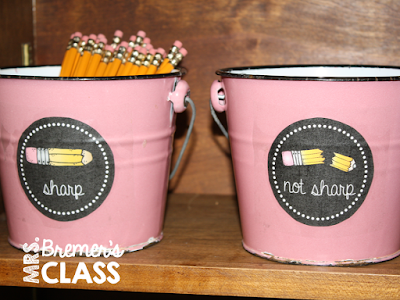 FREE pencil container labels for the classroom!
