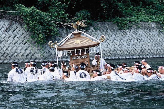 Chichibu Kawase Matsuri (float in river), Chichibu City, Saitama