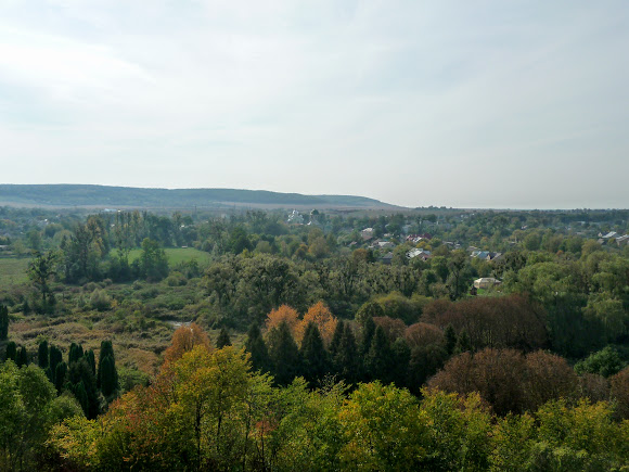 Олесский замок. Панорама местности