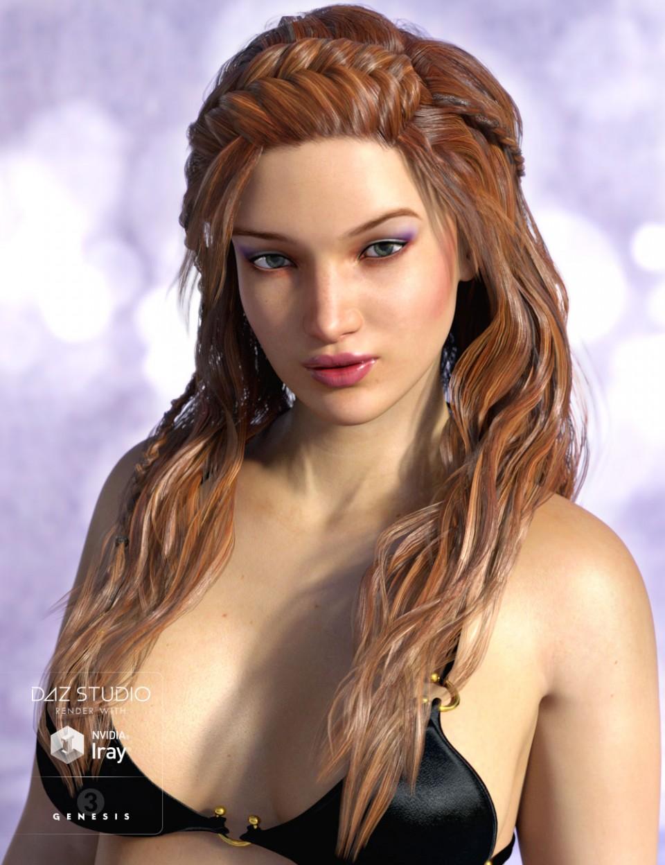 Poser and DAZ Studio 3D Models: Hair|DAZ Studio and Poser