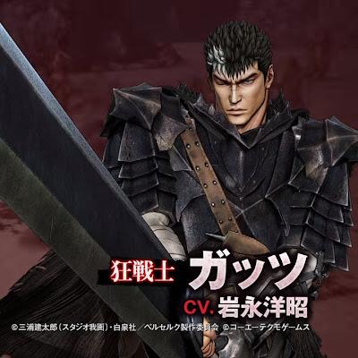 El juego de Berserk muestra un vídeo dedicado a Guts con su armadura Berserker