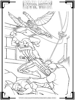 captain america civil war falcon and scarlet witch coloring pages