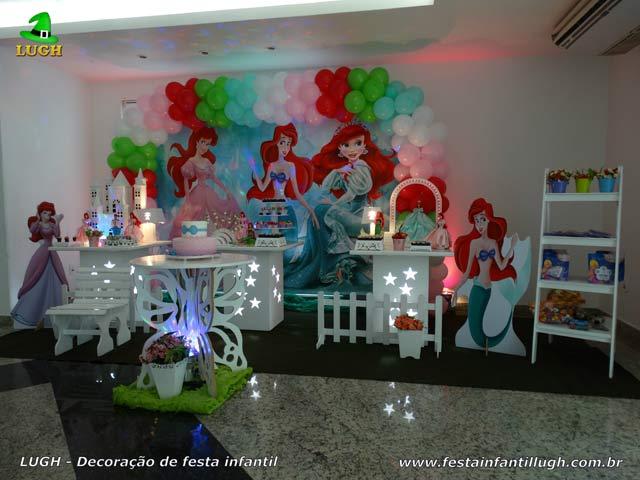Festa infantil Ariel - Decoração de festa de aniversário tema da Ariel realizado na Barra RJ