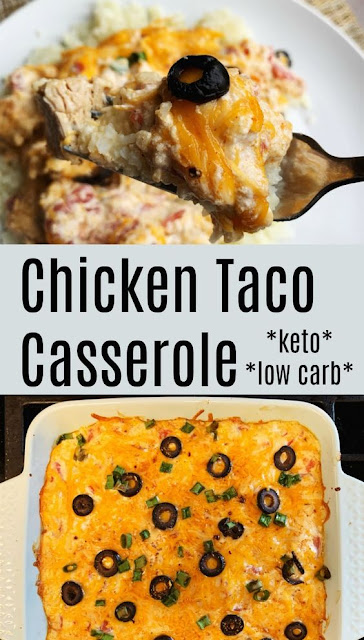 CHICKEN TACO CASSEROLE – KETO / LOW CARB
