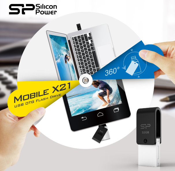 SP Mobile X21 OTG USB Flash Drive