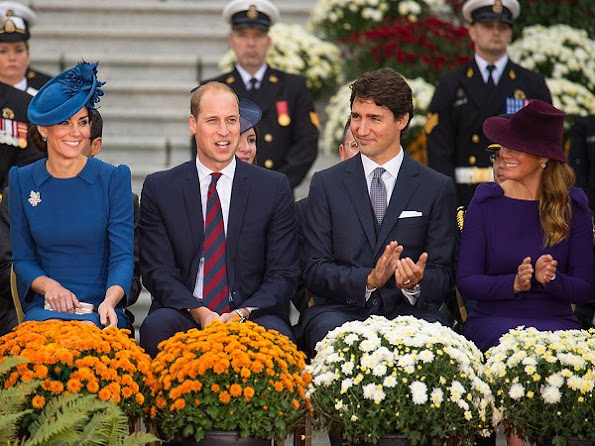 Prime Minister of Canada Justin Trudeau and his wife Sophie Gregoire-Trudeau, Prince George and Princess Charlotte are visiting Canada as part of an eight day visit to the country taking in areas such as Bella Bella, Whitehorse and Kelowna