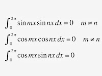 Integrals of products of sines and cosines.