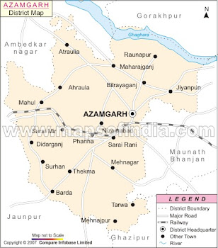 Map of the Azamgarh