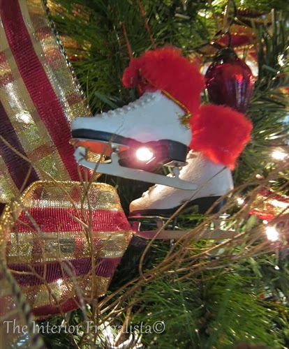 Figure skate Christmas ornament