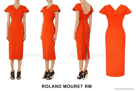 Princess Charlene wore Roland Mouret Dunmore Dress - Spring Summer 2016