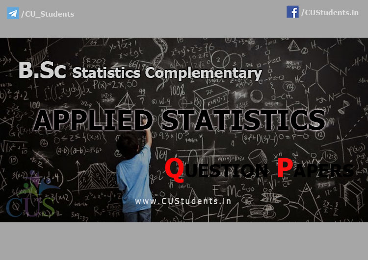 Applied Statistics Previous Question Papers