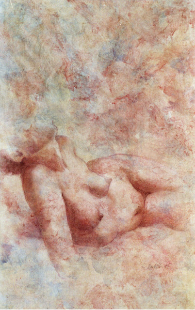 Reclining Torso  - Painting -  Rosemary Marchetta